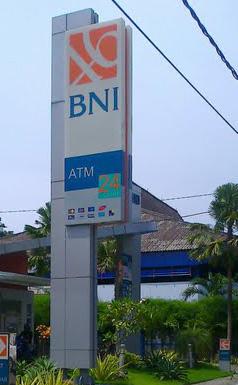 Pembuatan Pylon Sign Bank BNI Syariah